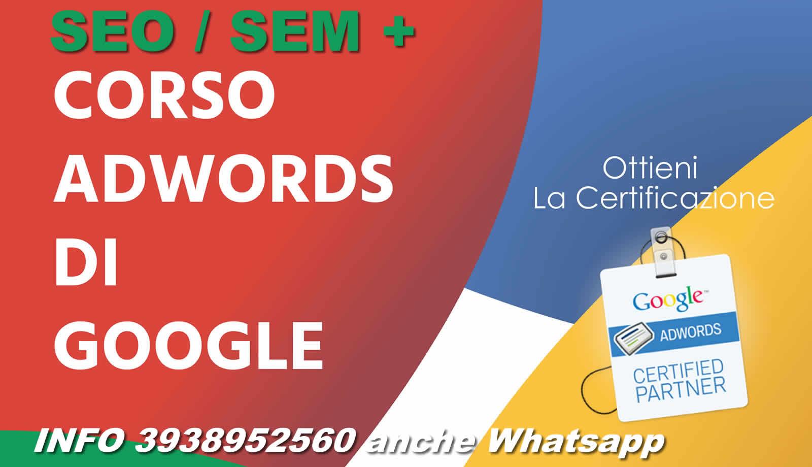 corso seo google adwords